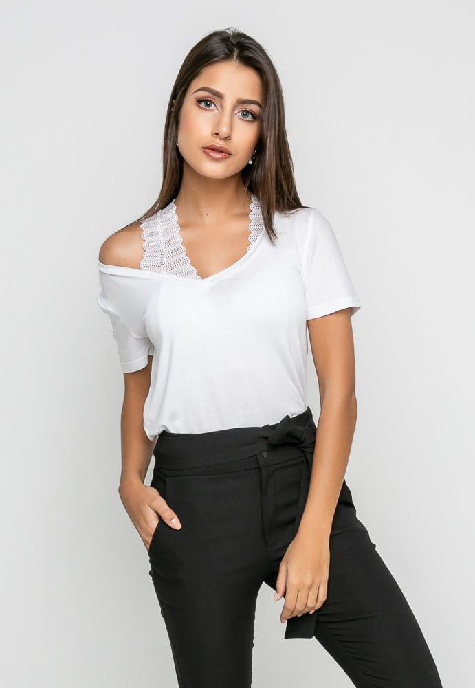 Combo Blusa+Top - Branco