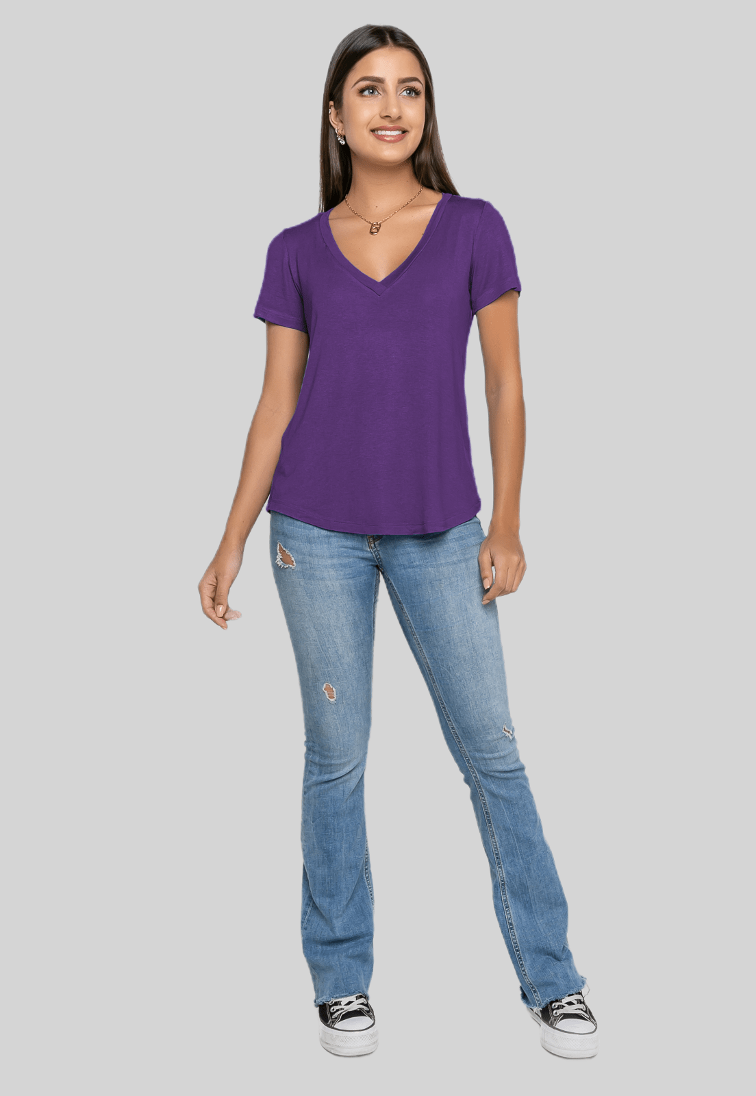 T-Shirt Rineli Ana - Violeta