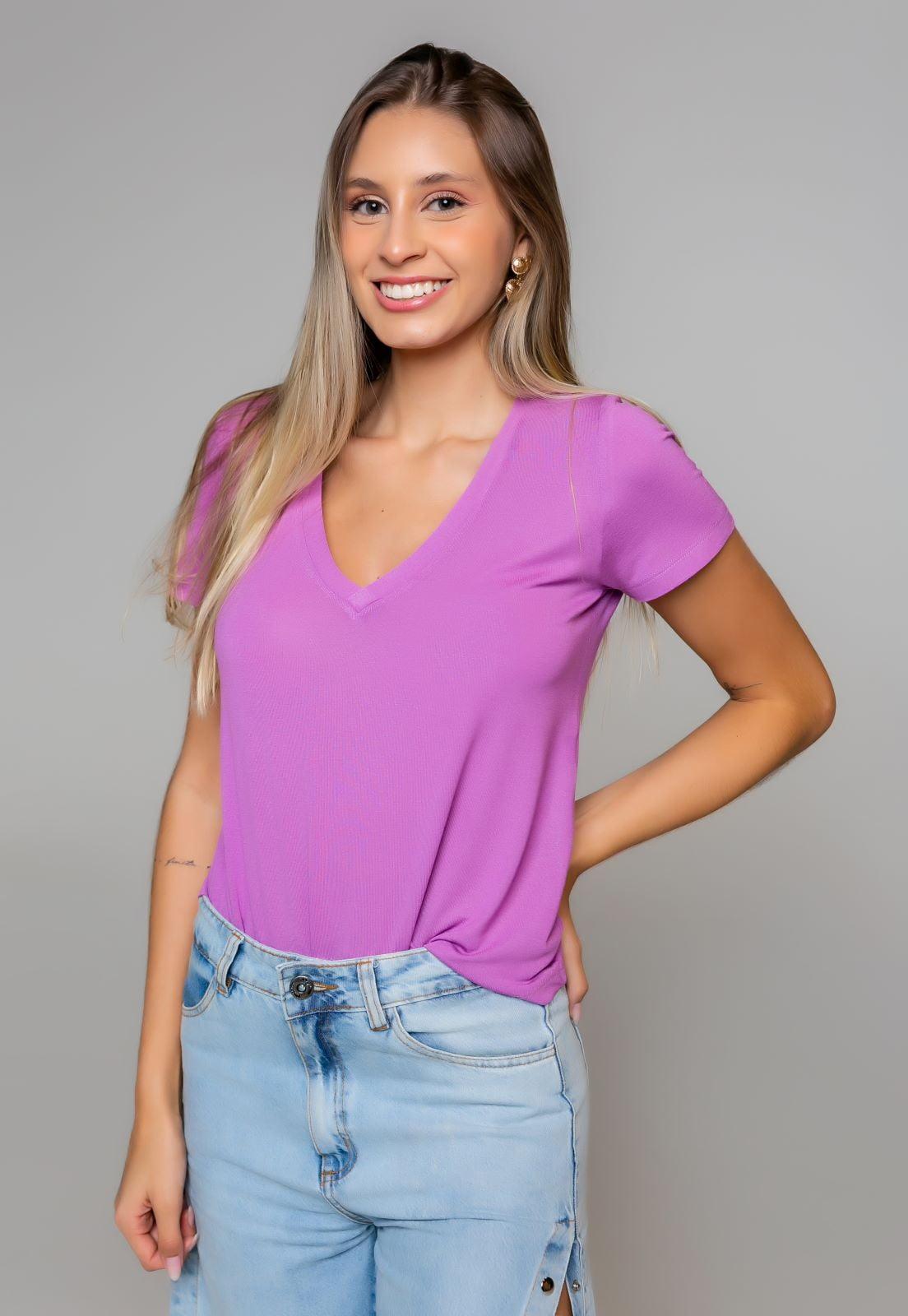 T-Shirt Rineli Ana - Rosa Tulipa