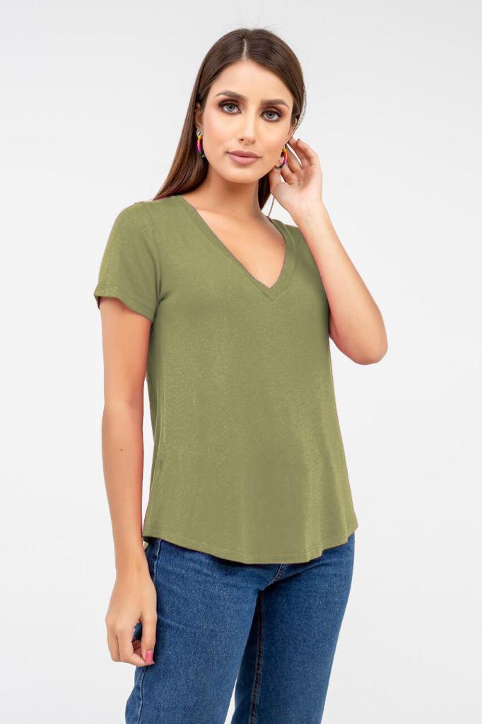 T-Shirt Rineli Ana - Verde Eco