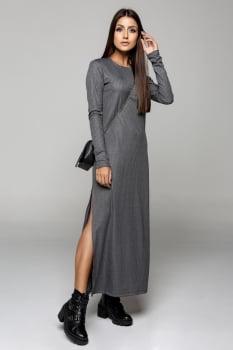 Vestido Rineli Longuete - Cinza Mescla