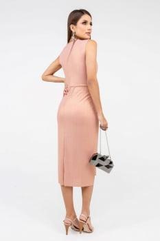 Vestido Rineli Curto Glam - Rosé