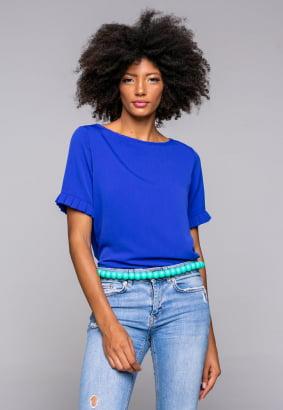 Blusa Rineli Pregas - Azul