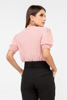 Blusa Rineli Tule Princesa- Rosé