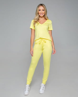 Conjunto Rineli Calça Bless - Amarelo