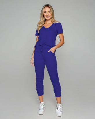 Conjunto Rineli Calça Bless - Azul Bic