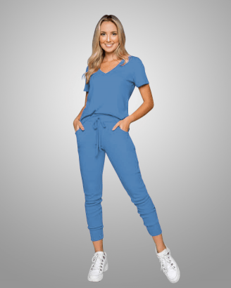Conjunto Rineli Calça Bless - Azul Delavê