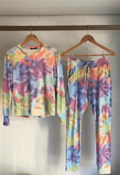 Conjunto Tie Dye - Manga Longa