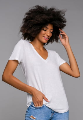 Blusa Podrinha Branca