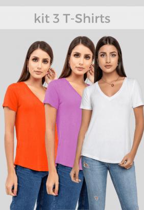 Kit T-Shirts Colors - 3 peças