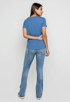 T-shirt Rineli Ana - Azul Jeans