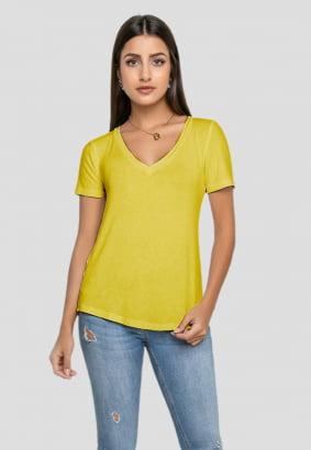 T-shirt Rineli Ana - Amarelo