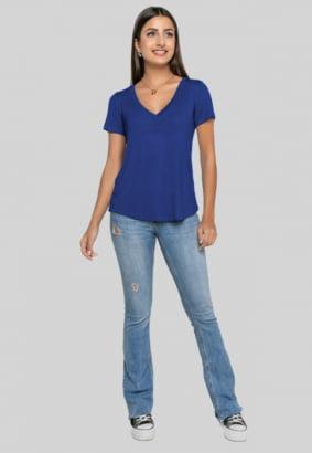 T-shirt Rineli Ana - Azul Bic