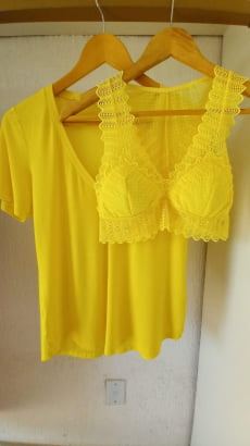 Combo Blusa + Top - Amarelo